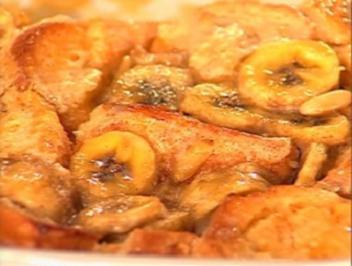 Brot und Butterpudding mit Toffee-Banane - Rezept