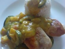 Putensteaks an Curry-Fruchtsauce - Rezept