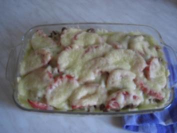 Zucchini-Hack-Auflauf mit Nudeln - Rezept