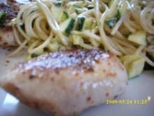 Pute mit Pasta und Zucchini - Rezept