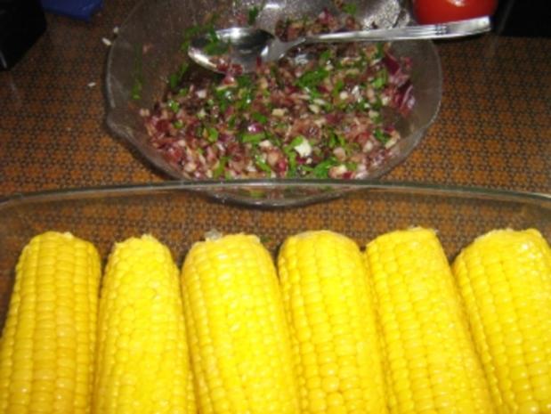 Maiskolben gegrillt mit Zwiebelsalsa - Rezept - Bild Nr. 2