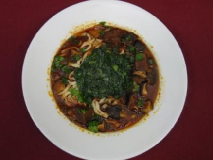 Beef Noodles Taiwanese Style - Rezept