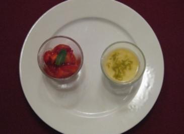 Limonen-Ingwer-Panna-Cotta mit Erdbeeren - Rezept