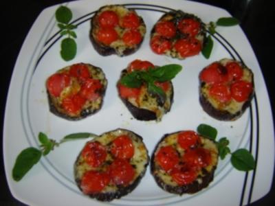 PIZZETTE DI MELANZANE - Auberginen Mini-Pizzas - Rezept