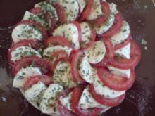 Tomaten mit Mozzarella - Rezept