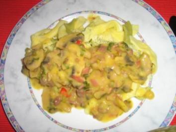Garganelli (Penne) mit fruchtiger Champignon Sauce - Rezept
