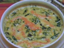 Spinatsuppe mit Seelachs - Rezept
