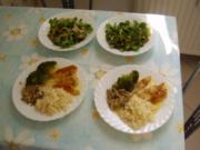 Hühnchenfilet auf Currysoße + Feldsalat - Rezept