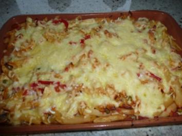 Makkaroni-Gemüse Auflauf - Rezept