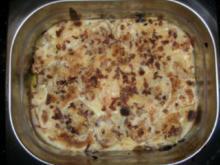 Gratinierter Filet-Auflauf mit Champignons - Rezept