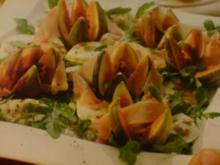 Rucola -Feigensalat mit Parmaschinken - Rezept
