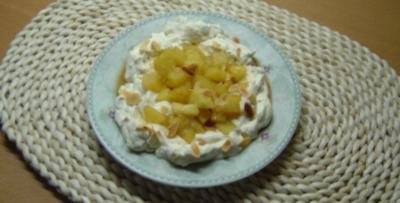 Ananas mit Nougat-Sahne - Rezept