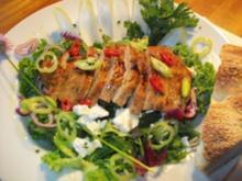 verschärfte Pute im Salatbett - Rezept