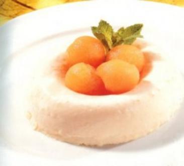 dessert semifreddo al porto e melone - Rezept