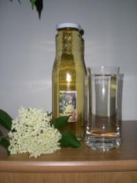 Rezept: Sirup : Holunderblüten Saft
