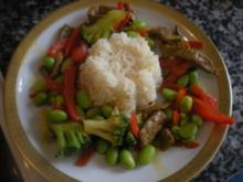 Paprika-Rinderfiletstreifen mit asiatischem Touch - Rezept