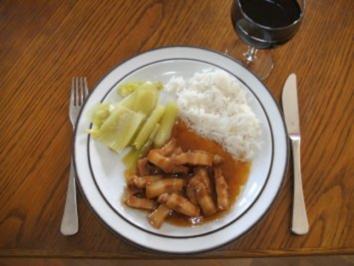 Fleisch: Schweinebauch in Karamellsauce, pikant - Rezept