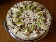 Kiwi-Bananen-Torte mit Buttermilch - Rezept