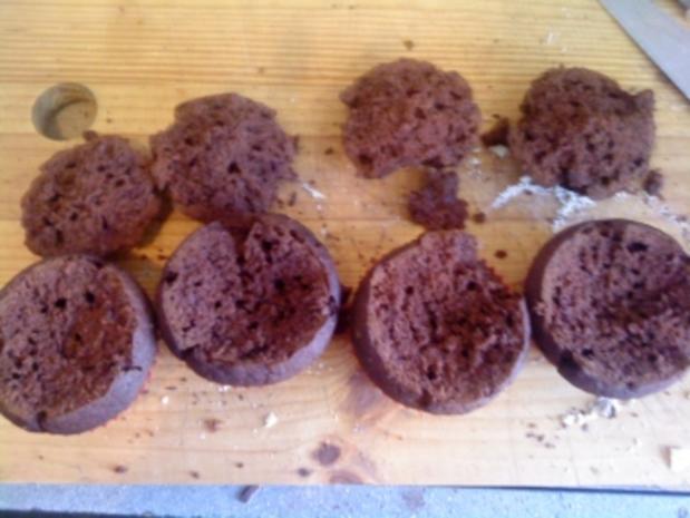 Schoko-Cupcake mit Kirschen - Rezept