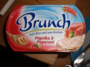 Tomaten-Zucchini-Krabben Spieße mit Bandnudeln - Rezept