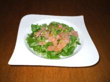 Zitronen-Lachs auf Feldsalat - Rezept