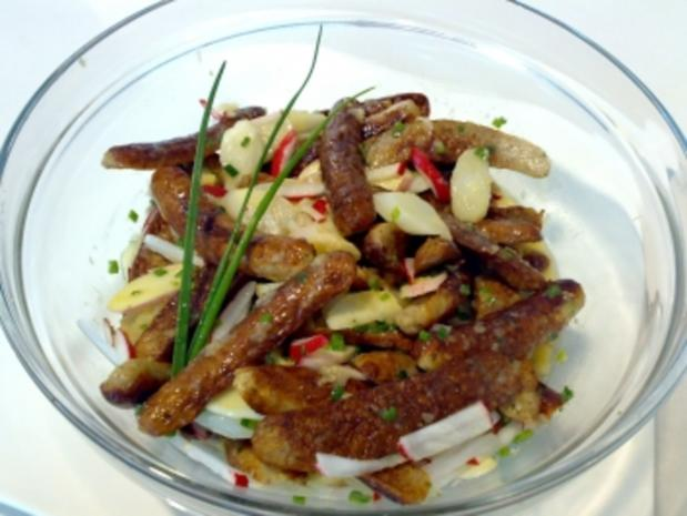 Spargel-Salat mit Nürnberger Bratwurst - Rezept - Bild Nr. 2