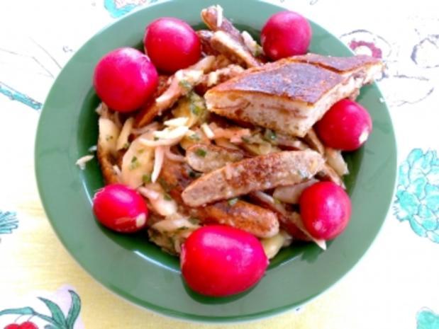 Spargel-Salat mit Nürnberger Bratwurst - Rezept - Bild Nr. 3