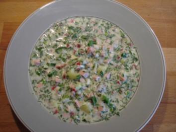 Rezept: Okroschka (russische kalte Suppe)