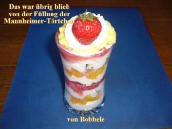 Dessert: Das was übrig blieb von der Füllung der Mannheimer Törtchen - Rezept