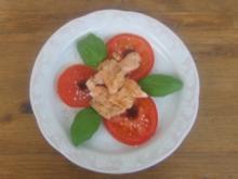 Tomaten mit feinen Lachsstreifen - Rezept