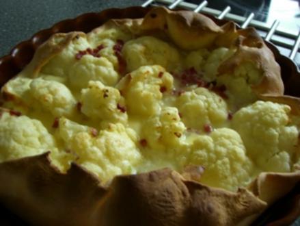 Blumenkohl auf Pizzateig !! - Rezept
