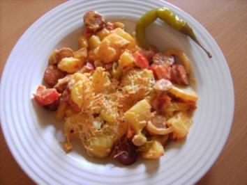 Scharfer Wurst-Kartoffelauflauf - Rezept