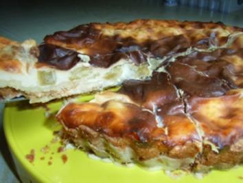 Kuchen: Rhabarber-Schmand-Torte - Rezept
