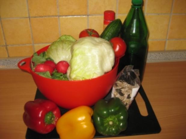 Sommersalat mit Kernöldressing - Rezept
