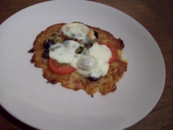 Kartoffelpuffer-Pizza - Rezept