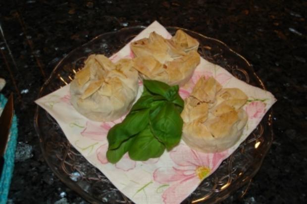 Pikante Muffins mit Filo- / Yufkateig - Rezept