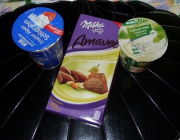 Joghurt-Sahne-Mousse Birne-Mandel-Eis - Rezept - Bild Nr. 2