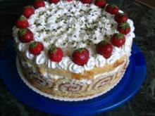Erdbeer- Zitronen Torte - Rezept