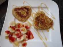 Bananenpfannkuchen; Süßspeise oder Dessert - Rezept