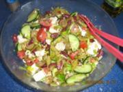 Bohnensalat mediteran - Rezept