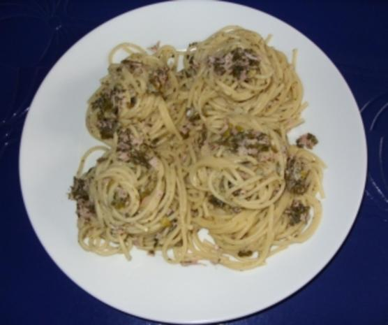 Spaghettinester mit grüner Schinkensoße - Rezept - Bild Nr. 4