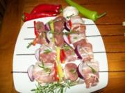 bunte Filetspiesse vom Grill - Rezept