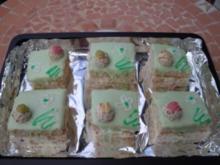 Ein Traum in grün - cremige Biskuitschnitten - Rezept