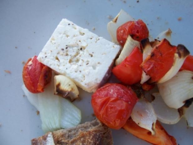 Grill - einfacher Gemüsespieß - Rezept