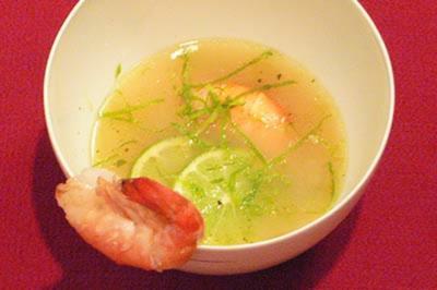 Zitronengrassuppe mit Garnelen - Rezept