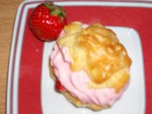 Windbeutel mit Erdbeersahne - Rezept