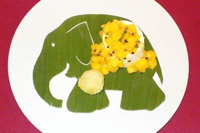 Pandanus-Panacotta mit Mango und Passionsfrucht - Rezept
