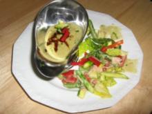 Knackiges, buntes Gemüse mit Mehlschwitze in grün - Rezept