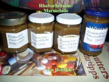 Rezept: Marmelade: Rhabarbermus-Marmelade