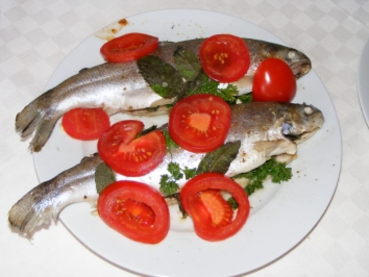 Forelle aus dem Ofen Rezept Eingereicht von Basti1983